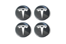 Tesla Model 3 Factory Gray Center Cap Set and Wheel Lug Nut Cover Set in Black