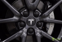 Tesla Model 3 Factory Gray Center Cap Set and Wheel Lug Nut Cover Set