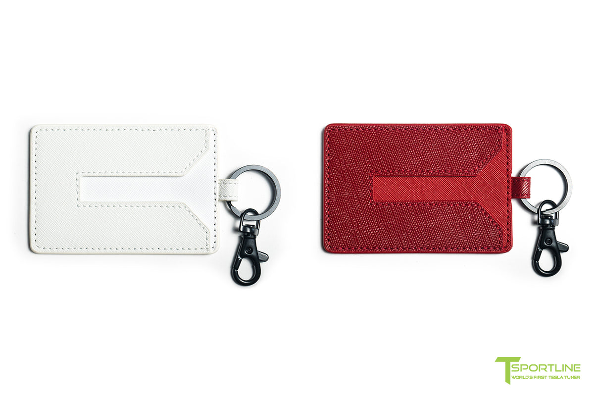 Tesla Model 3/Y Leather Key Card Holder (Set of 2)
