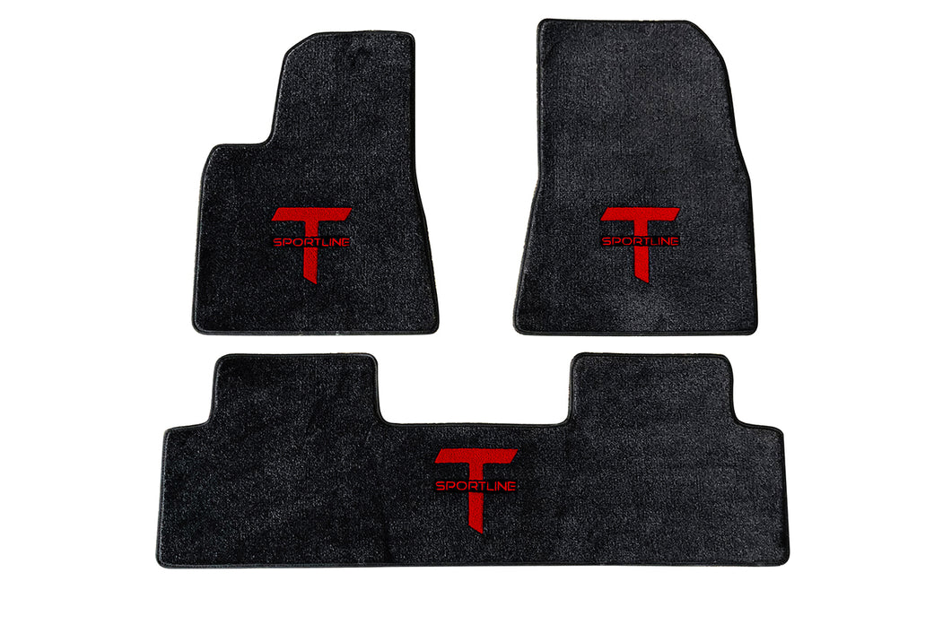 tesla model 3 floor mat set tesla model s x 3 accessories. Black Bedroom Furniture Sets. Home Design Ideas
