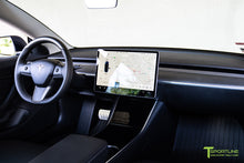 Tesla Model 3/Y Matte Carbon Fiber Interior Trim Kit (Steering Wheel + Dash Panel)