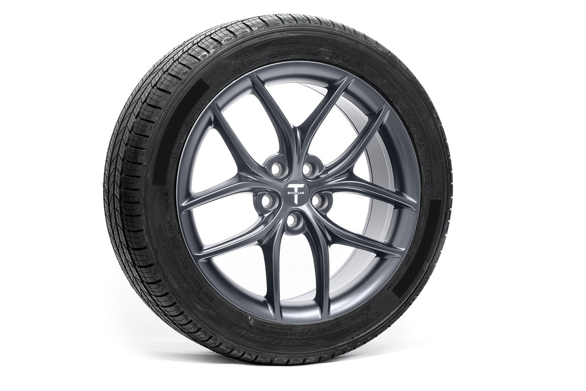 "Tesla Model 3 18"" TS5 Flow Forged Tesla Wheel and Winter Tire Package (Set of 4)"