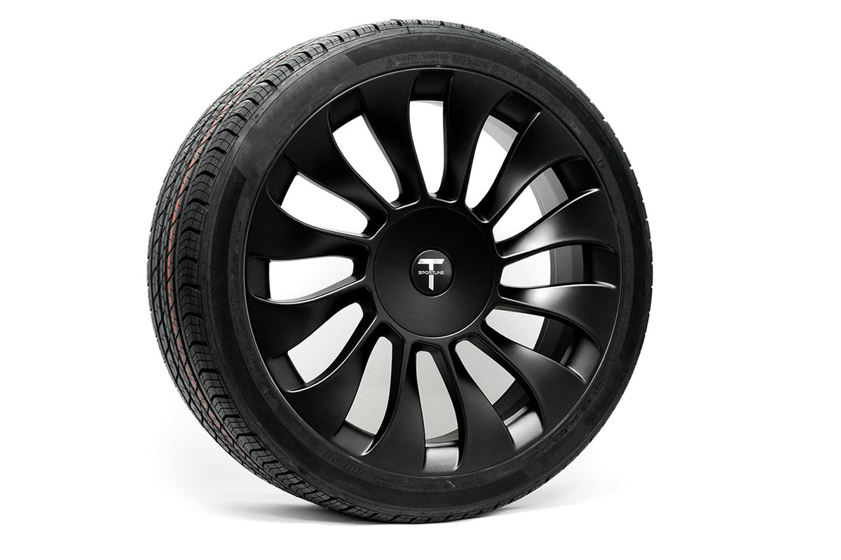 "Tesla Model 3 19"" TSV Flow Forged Tesla Wheel and Tire Package (Set of 4)"