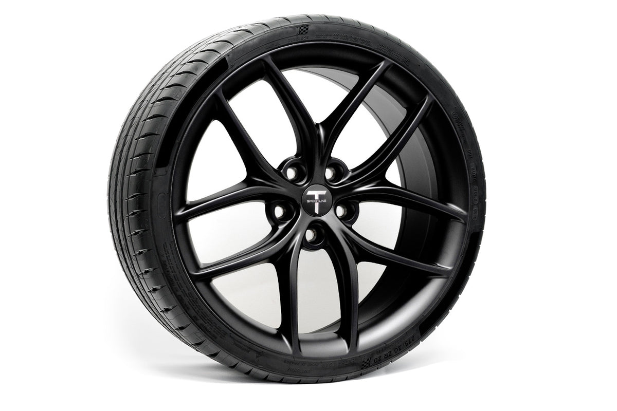 "Tesla Model 3 20"" TS5 Flow Forged Tesla Wheel and Winter Tire Package (Set of 4)"