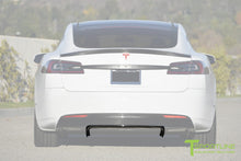 Custom Tesla Model S with Carbon Fiber Center Diffuser by T Sportline