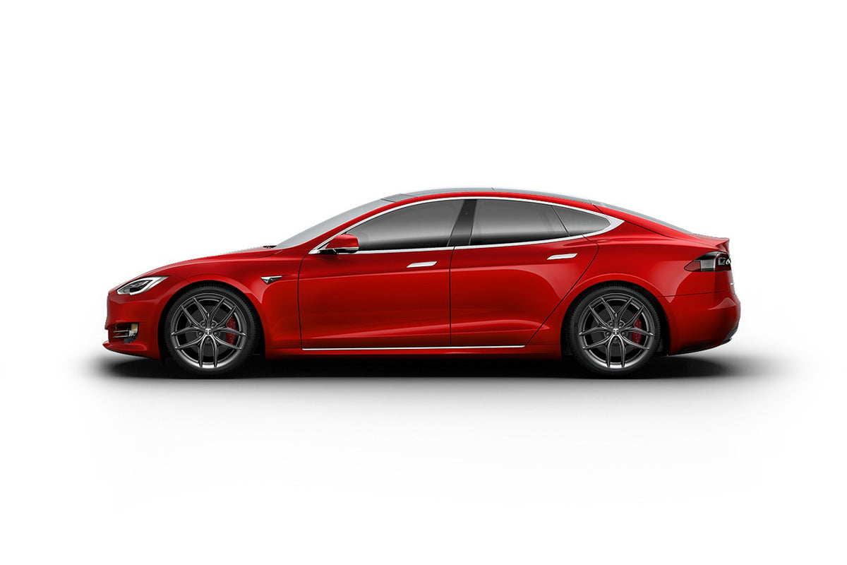 "Tesla Model S 20"" TS5 Flow Forged Tesla Wheel and Tire Package (Set of 4)"