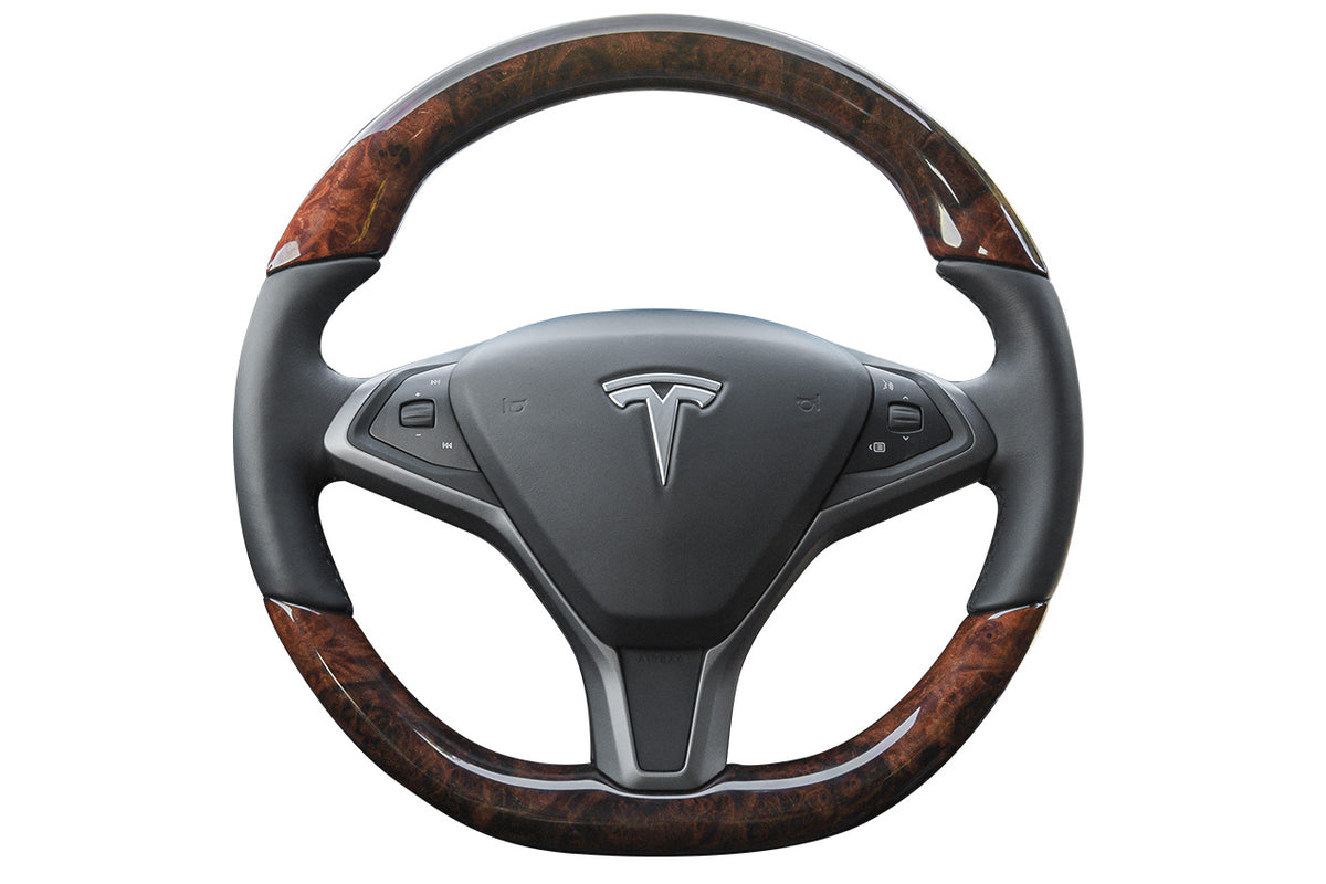 Tesla Burl Wood Steering Wheel
