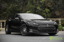 "Custom Tesla Model S with TS114 21"" Forged Wheels and NCGv2-NoseCone Grille by T Sportline"