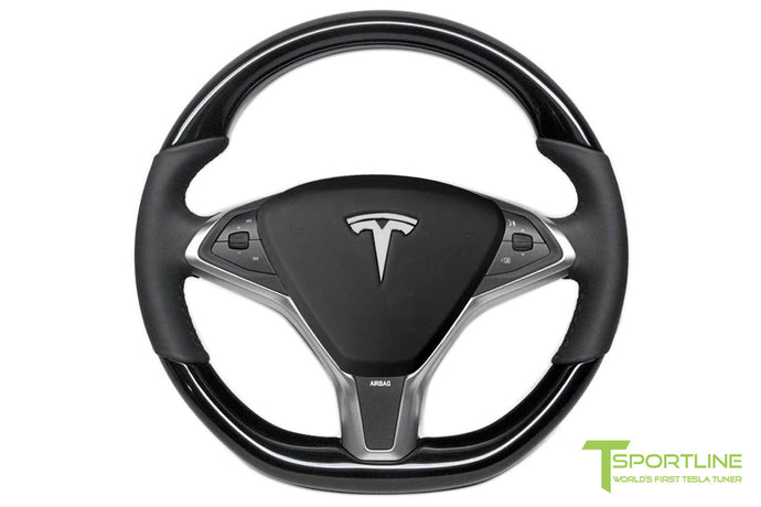 Tesla Piano Black Steering Wheel