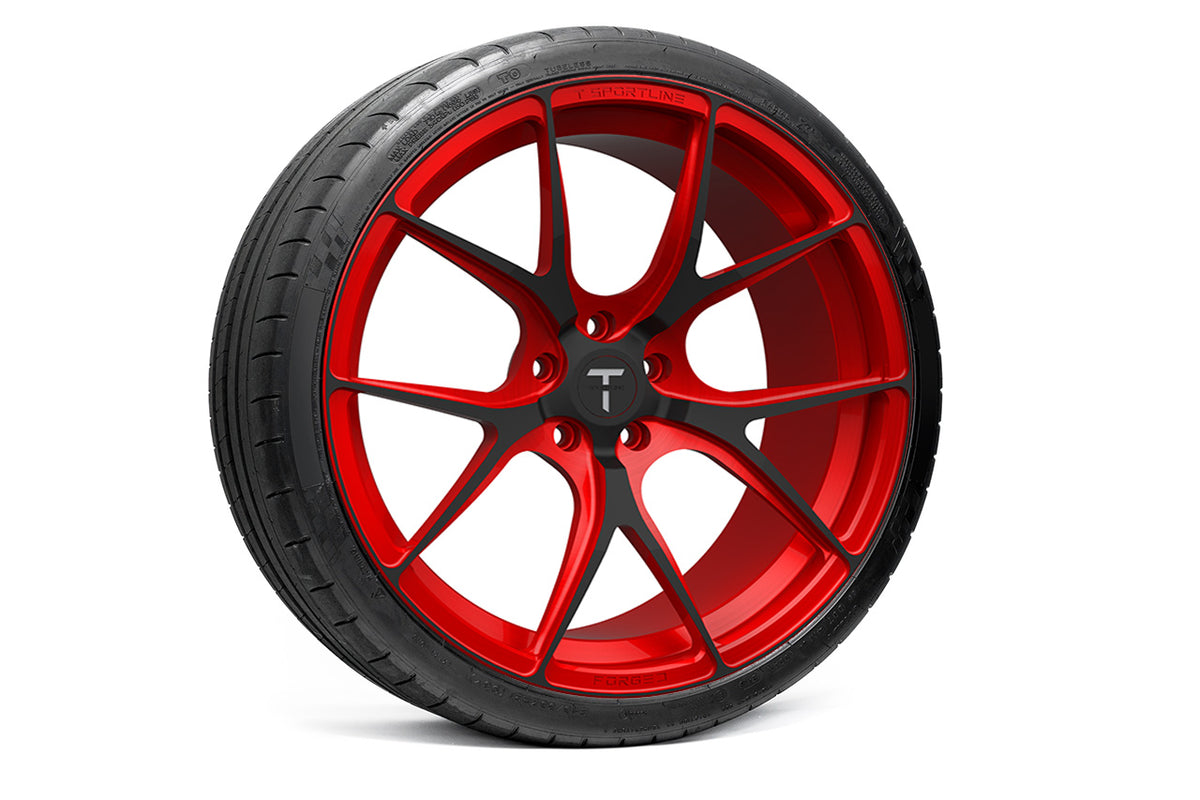 "Tesla Model S 21"" TS115 Forged Tesla Wheel and Tire Package (Set of 4)"