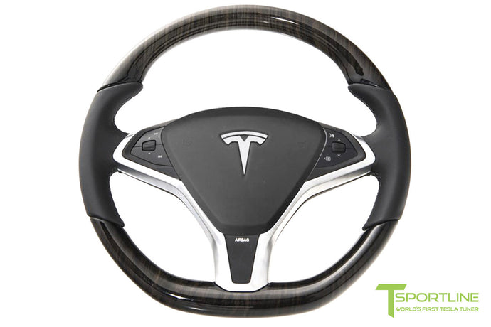 Tesla Gloss Obeche Steering Wheel