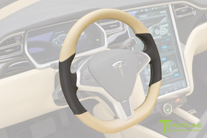 Tesla Steering Wheel Custom Upholstered