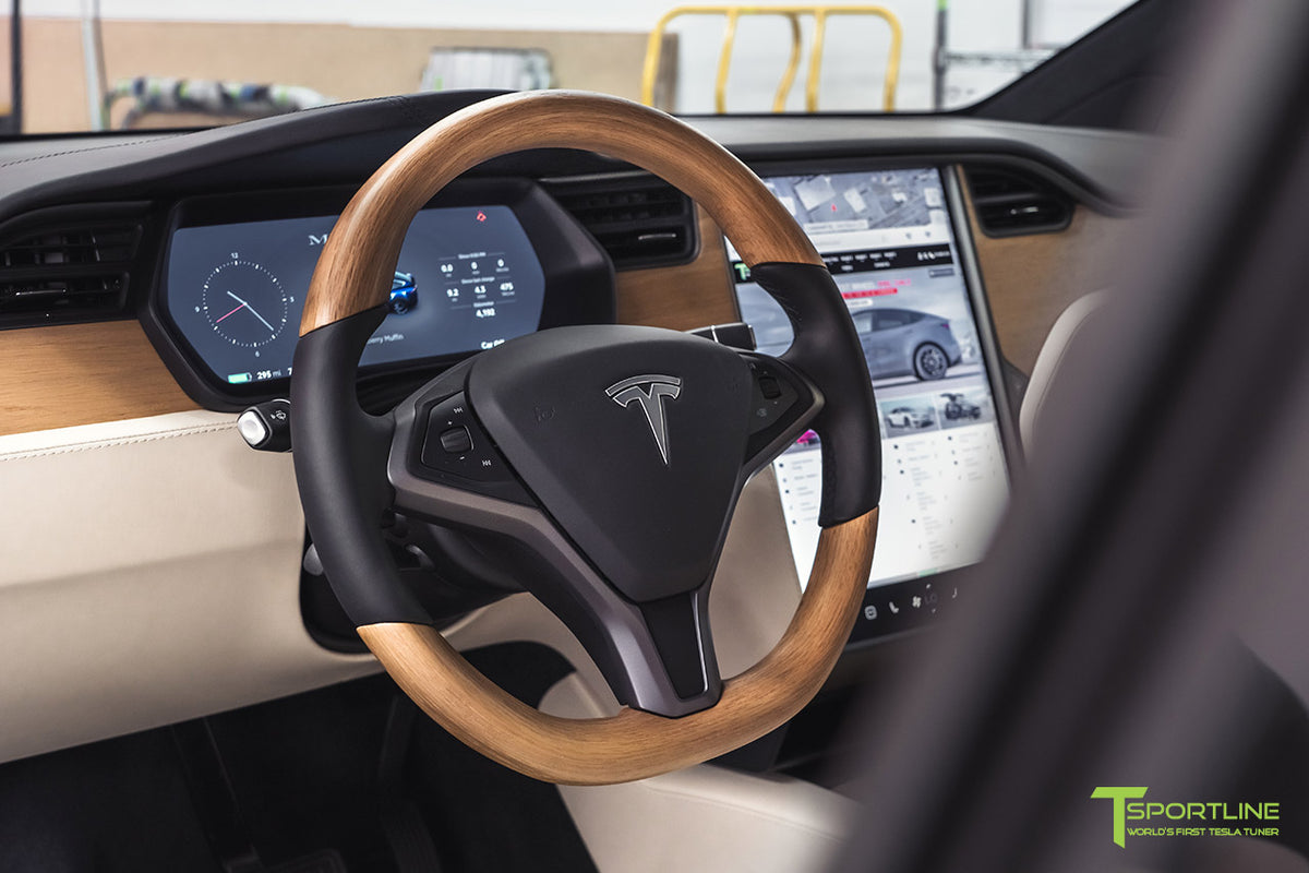 Tesla Oak Wood Steering Wheel