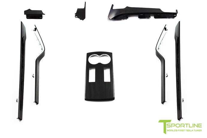 Tesla Model X Carbon Fiber Dash Panel Kit