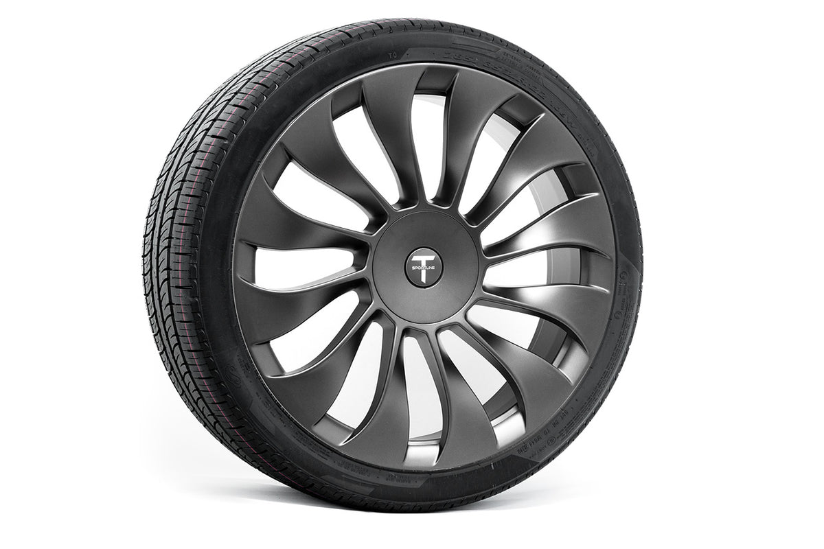 "Tesla Model X 22"" TSV Flow Forged Tesla Wheel and Tire Package (Set of 4)"