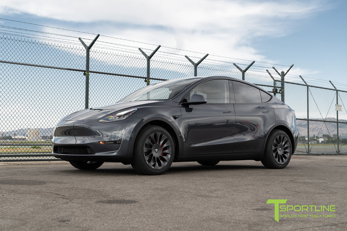 "Tesla Model Y 19"" TSV Flow Forged Tesla Wheel and Winter Tire Package (Set of 4)"