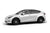 Pearl White Tesla Model Y 21 inch Forged Tesla Aftermarket Wheels