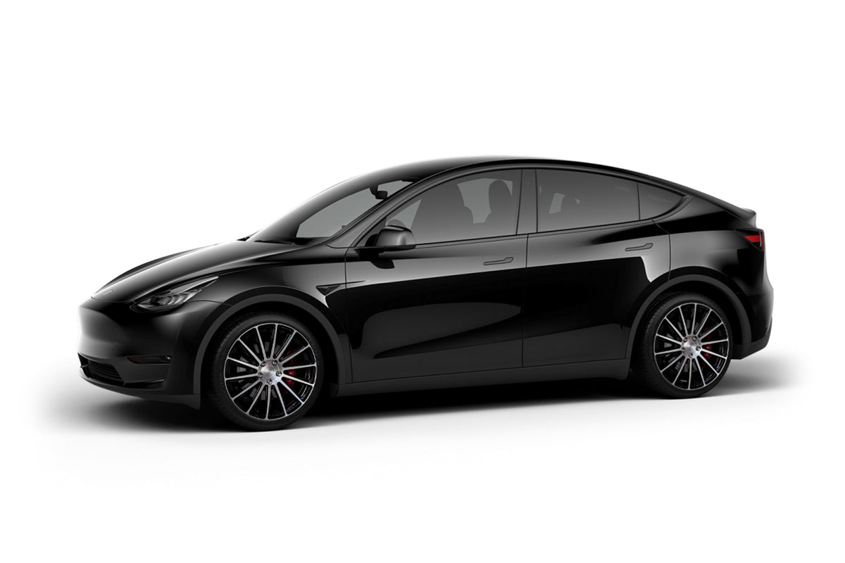 Black Tesla Model Y 21 inch Forged Tesla Aftermarket Wheels