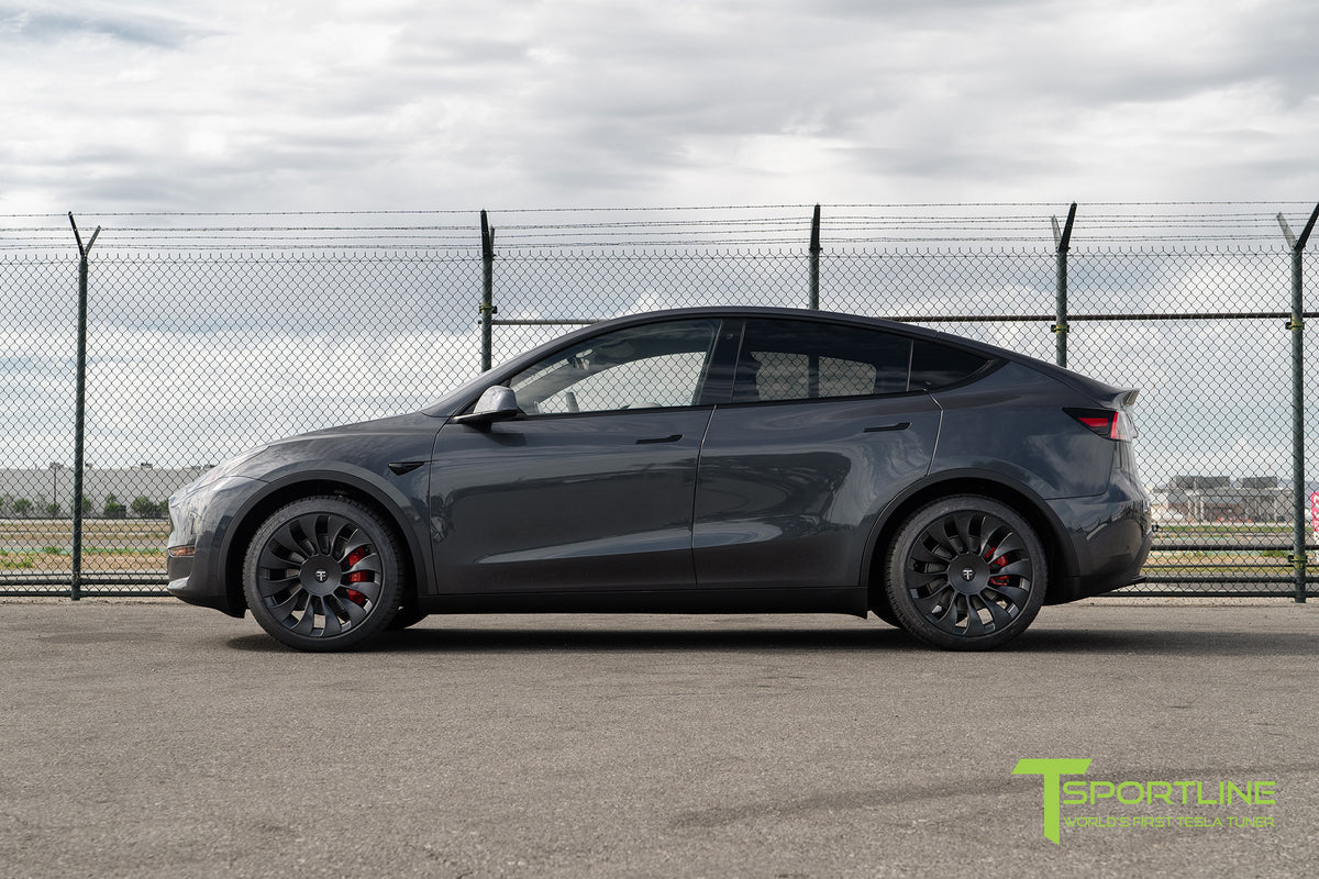 "Tesla Model Y 20"" TSV Flow Forged Tesla Wheel and Winter Tire Package (Set of 4)"