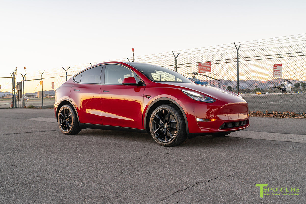 "Tesla Model Y 19"" TSS Flow Forged Tesla Wheel and Winter Tire Package (Set of 4)"