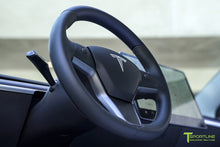 Tesla Model 3 Satin Deep Blue Metallic Interior Trim Kit (Steering Wheel + Dash Panel)