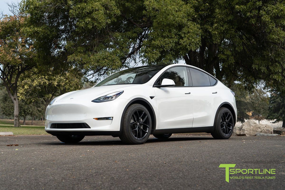 "Tesla Model Y 19"" TS5 Flow Forged Tesla Wheel and Winter Tire Package (Set of 4)"