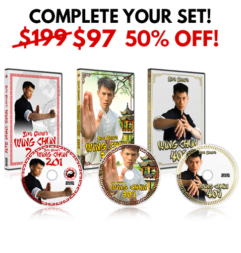 Wing Chun 201, 301, 401 DVDs - BUNDLE OVERSTOCK