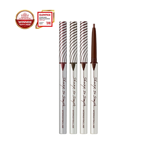 Clio sharp, so simple waterproof pencil liner #01 black