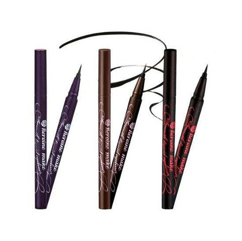 Kiss me heroine make smooth liquid eyeliner super keep #super black
