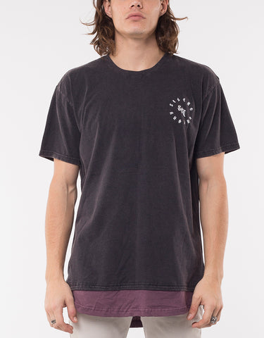 FUZZ LAYERED TEE - WASHED BLACK