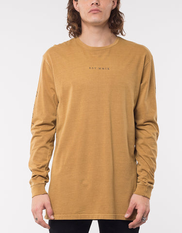 KEYLINE LONG SLEEVE TEE- MUSTARD
