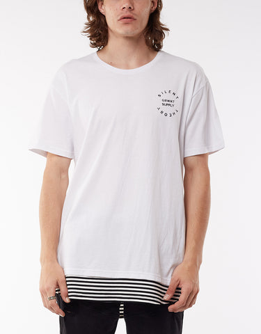 TRIMMED LAYERED TEE - WHITE