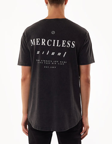 Merciless Tee Washed Black