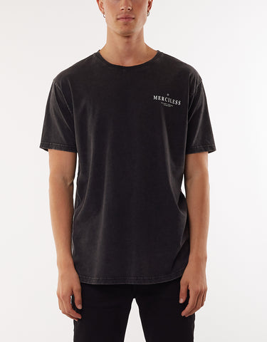 MERCILESS TEE - WASHED BLACK