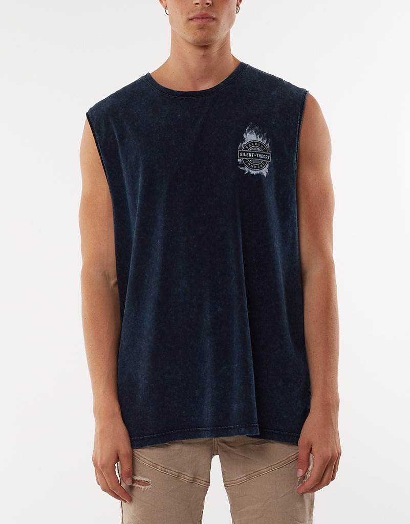 BOMBAY MUSCLE TEE - NAVY
