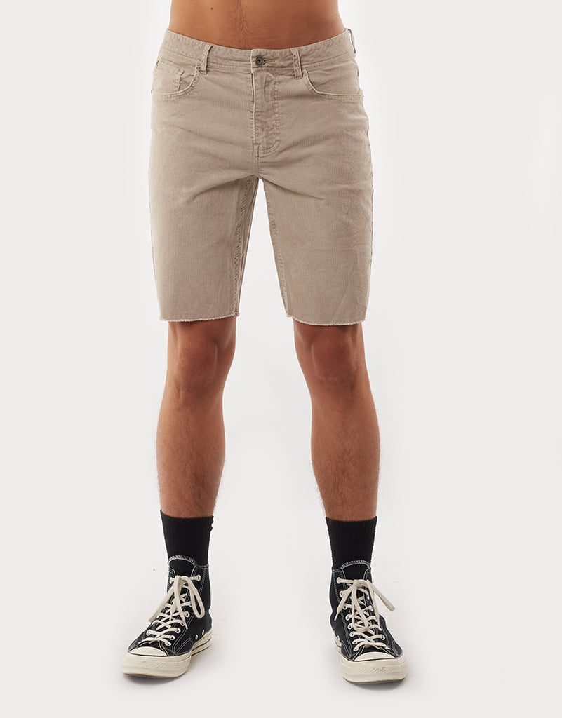 SHADOW CORD SHORT - TAN