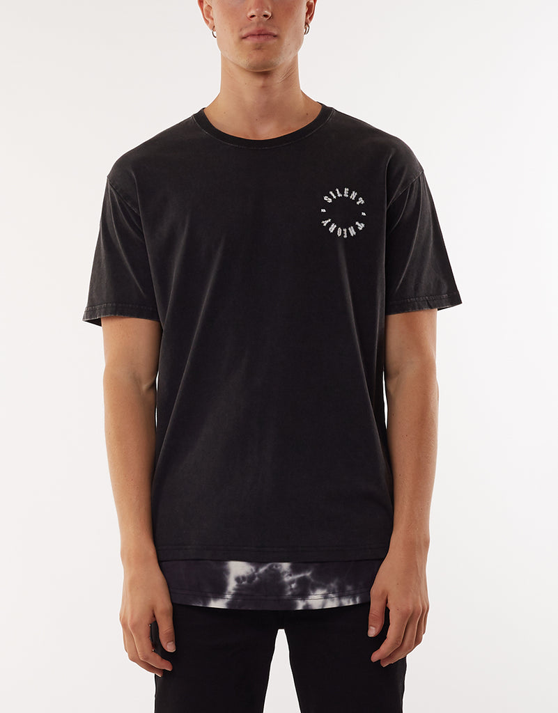HORROR LAYERED TEE - WASHED BLACK