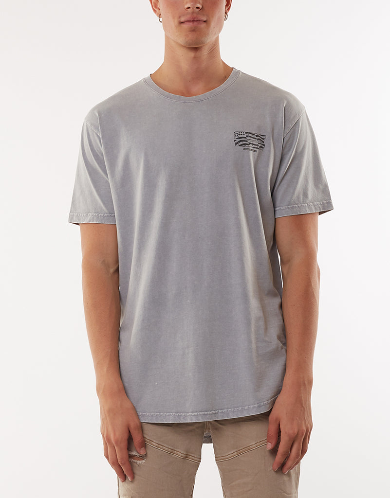 STARS AND STRIPES TEE - GREY