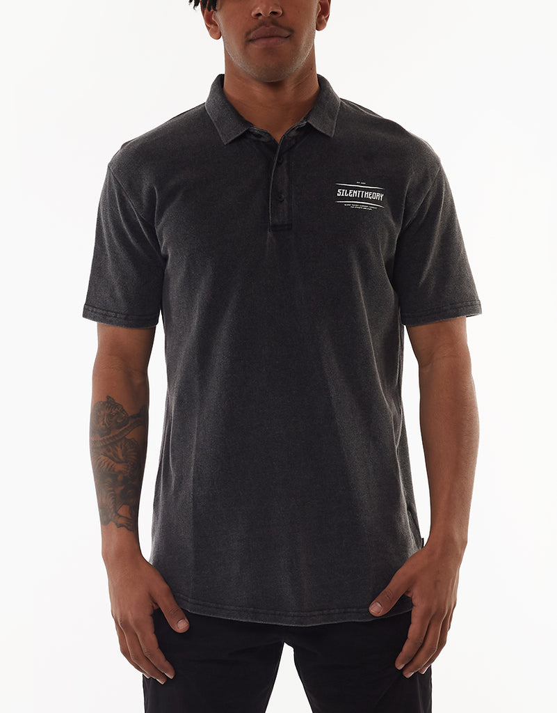 Prey Polo Washed Black
