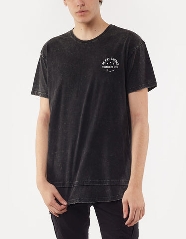TRADE LAYERED TEE - WASHED BLACK