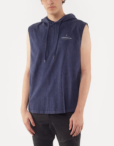 Ground Hooded Muscle Navy