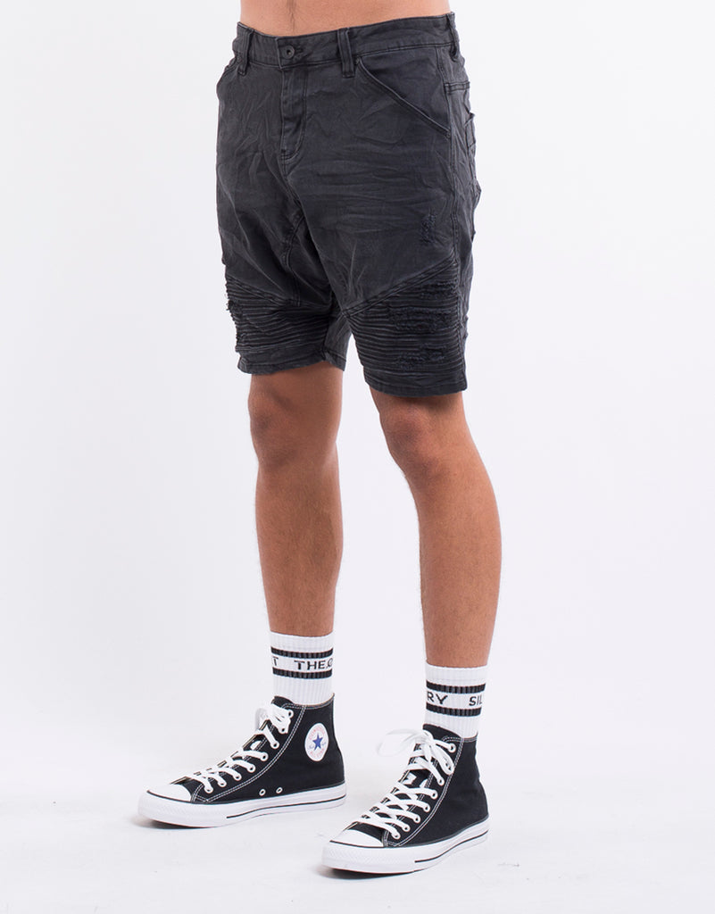 f2f9f5307f5 OUTLAW SHORT - WASHED BLACK | Silent Theory