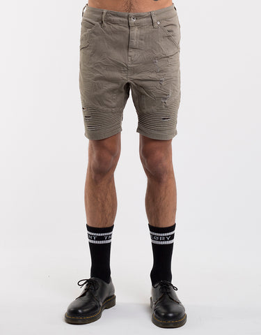 Outlaw Short Khaki Trashed