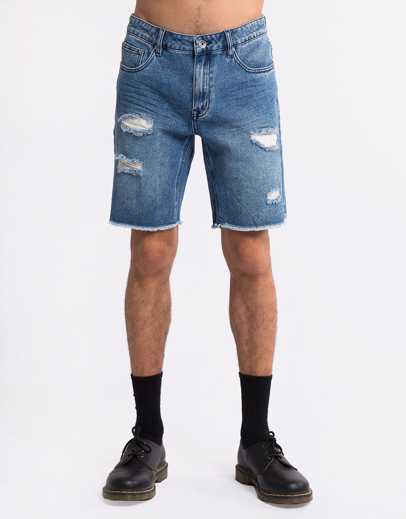 Ramble Ripped Short Mid Blue Mid Blue