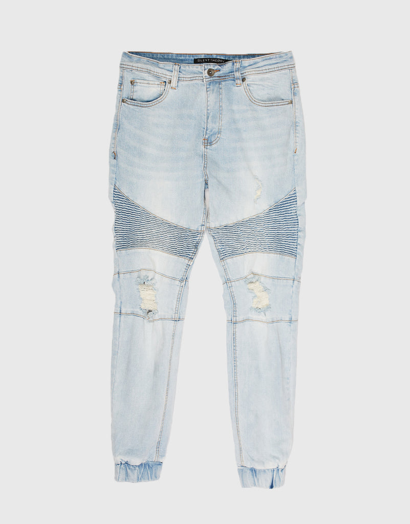 SHADOW BIKER JEANS - CLEAR BLUES