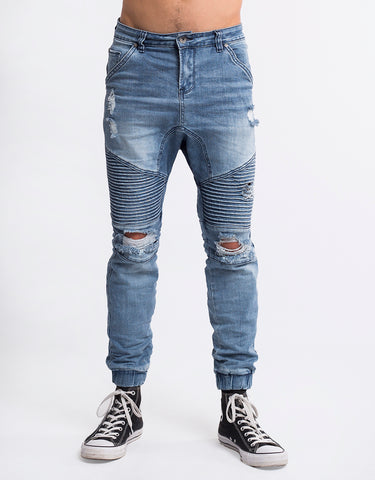 OUTLAW CUFFED DENIM JEANS
