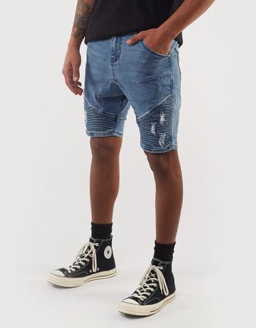 Outlaw Short - Motley Blue Blue