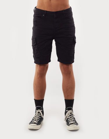 Field Cargo Short - Trashed Black Washed Black