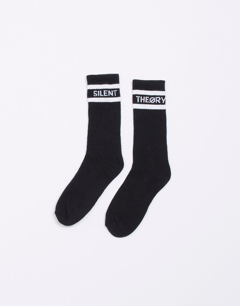 Silent Crew Sock 3 Pack Black
