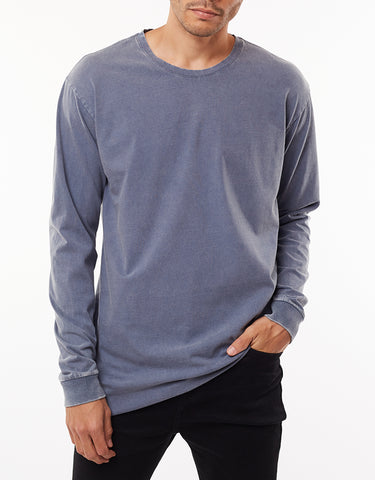 OVER CROTCH LONG SLEEVE TEE - BLUE
